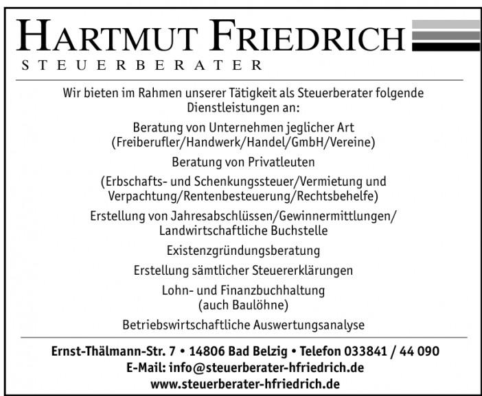 Hartmut Friedrich Steuerberater