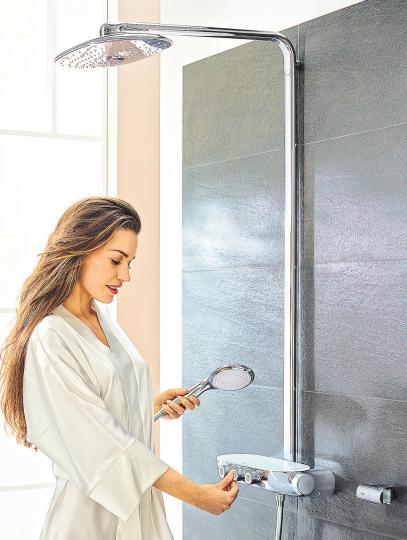 """Das """"Wie-frisch-geduscht-Gefühl"""" wird am besten mit lauwarmem Wasser erzielt. FOTO: DPA/GROHE"""