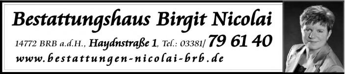 Bestattungshaus Birgit Nicolai