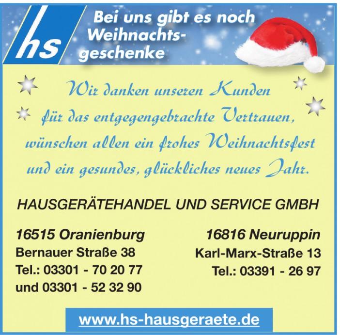 hs Hausgerätehandel und Service GmbH