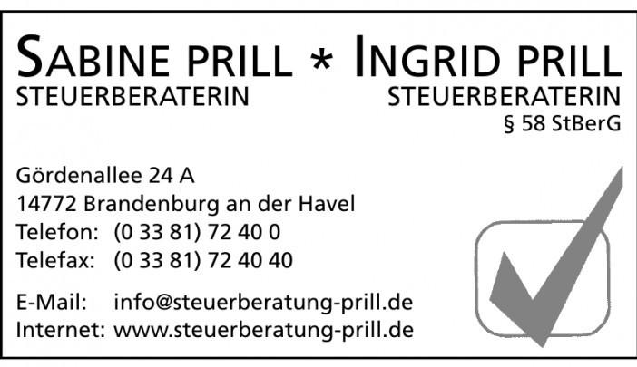 Sabine Prill - Ingrid Prill Steuerberaterin