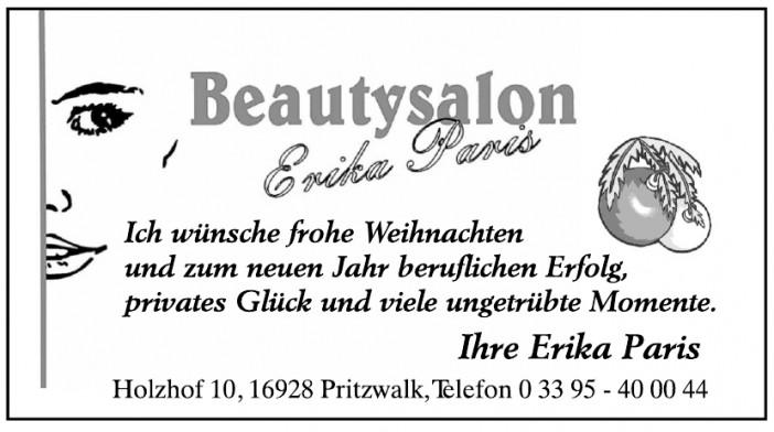Beautysalon Erika Paris