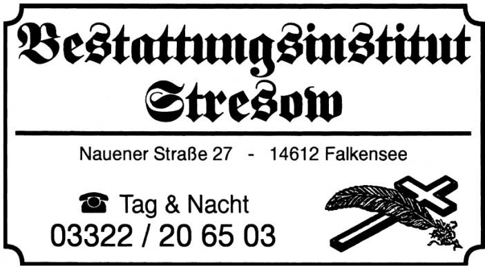 Bestattungsinstitut Stresow