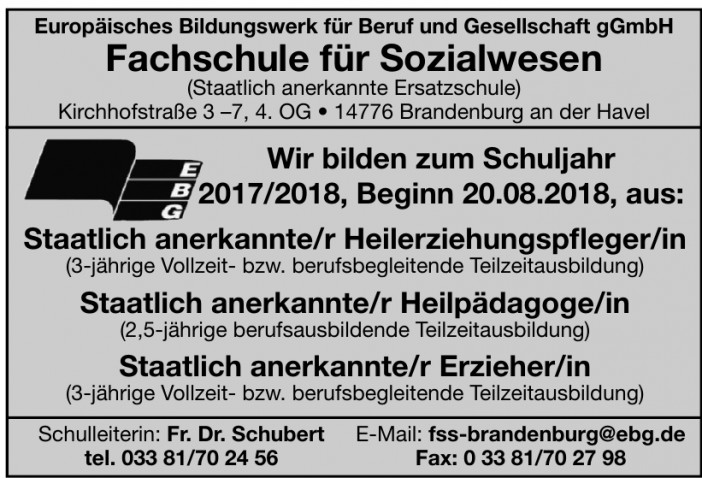 Europäisches Bildungswerk für Beruf und Gesellschaft gGmbH