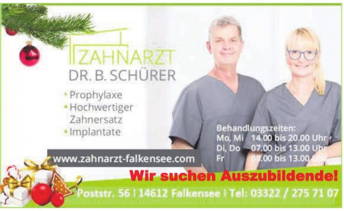 Zahnarzt Dr. B. Schürer