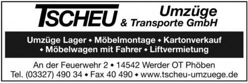 Tscheu Umzüge & Transporte GmbH