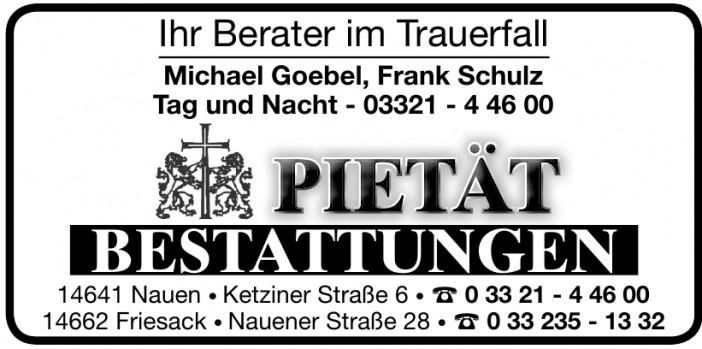 Bestattungen Pietät Michael Goebel, Frank Schulz