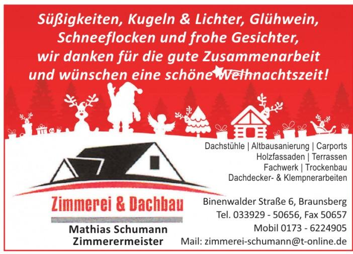 Zimmerei & Dachbau Mathias Schumann Zimmermeister