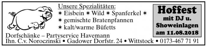 Dorfschänke – Partyservice Havemann