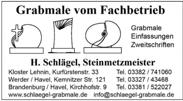 Grabmale vom Fachbetreib H. Schlägel, Steinmetzmeister
