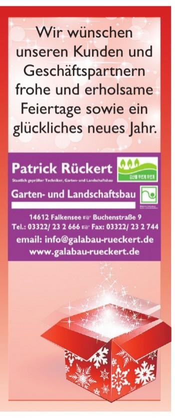 Patrik Rückert Garten- und Landschaftsbau