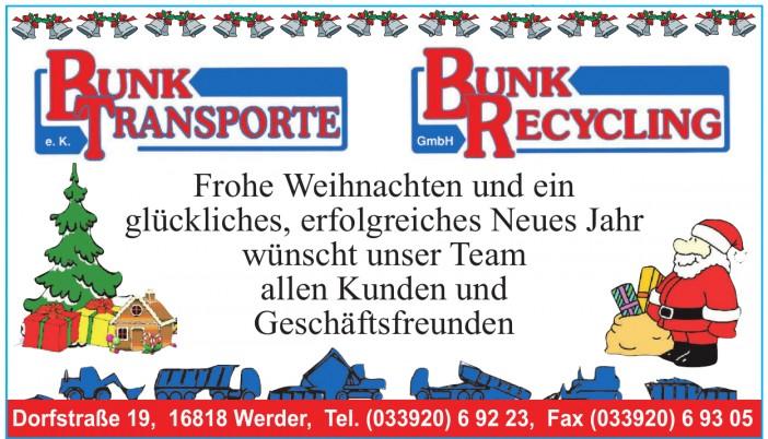 Bunk Transporte e.K.